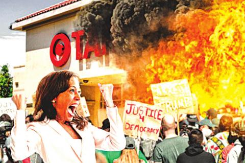 To Protest Siege On Capitol, Kamala Harris Helps BLM Burn Down A Target [SATIRE]
