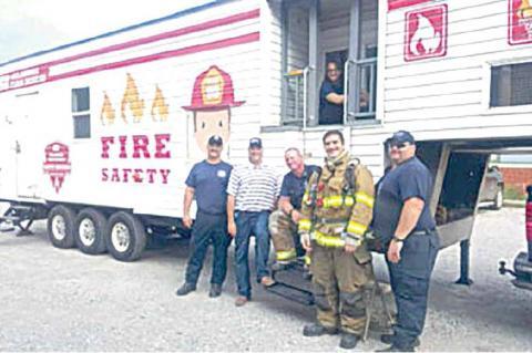 """""""FIRE SAFETY HOUSE"""" COMES TO E. E. EMERSON."""