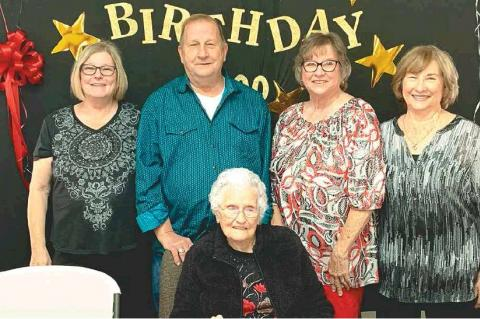 ONE OF COAL COUNTY'S MOST BELOVED CITIZENS RECENTLY CELEBRATED HER 100TH BIRTHDAY.