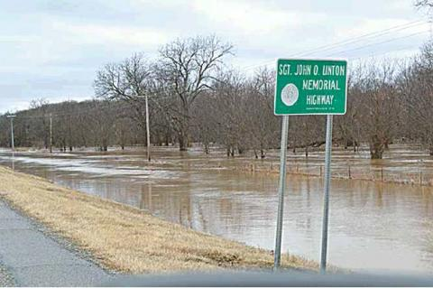 SH 31 Sgt. John O.Linton Memorial Highway on Saturday afternoon after Friday's storms.