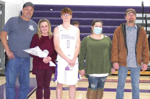 Coalgate basketball seniors recognized