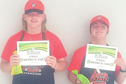 Coal County 4-H compete in District Competition