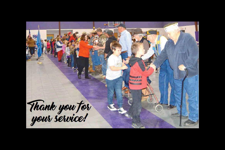 U. S. Veterans honored